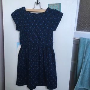 Cherokee, blue fit and flare dress.